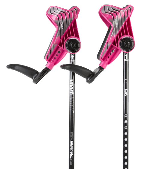 Smartcrutch usa Standard Pink pair of crutches