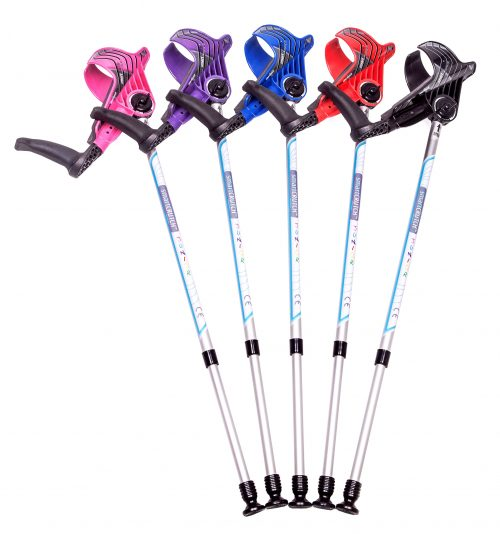 group of crutches for the junior range