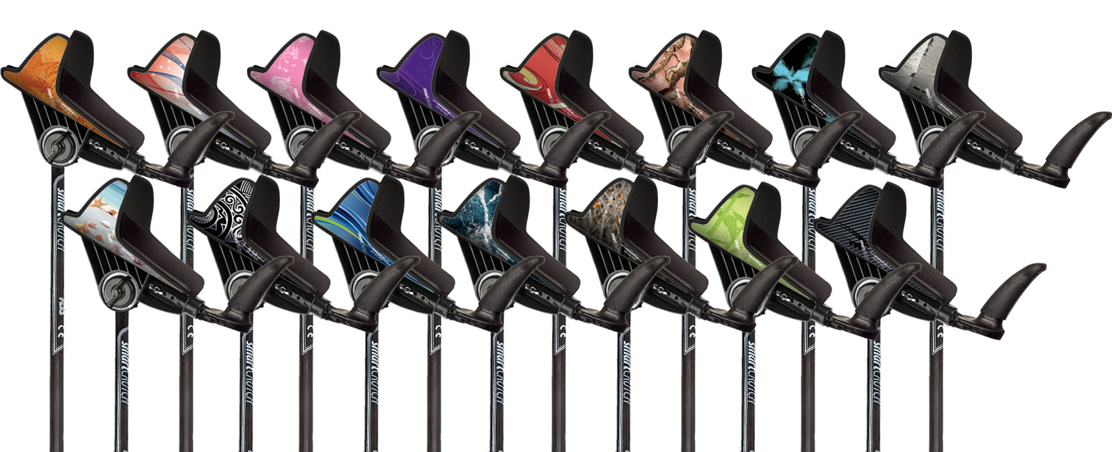 smart crutch product range of colors